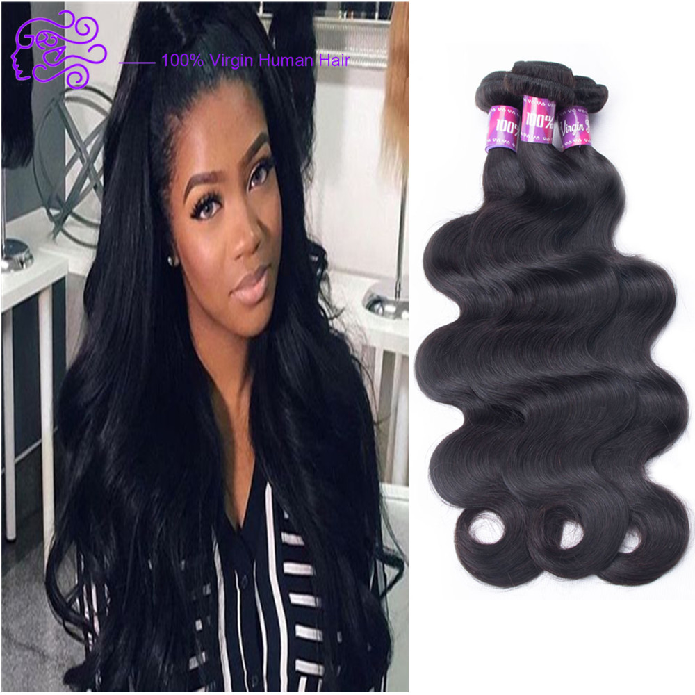 Fashion Beauty Brazilian Body Wave Virgin Human Hair Extensions
