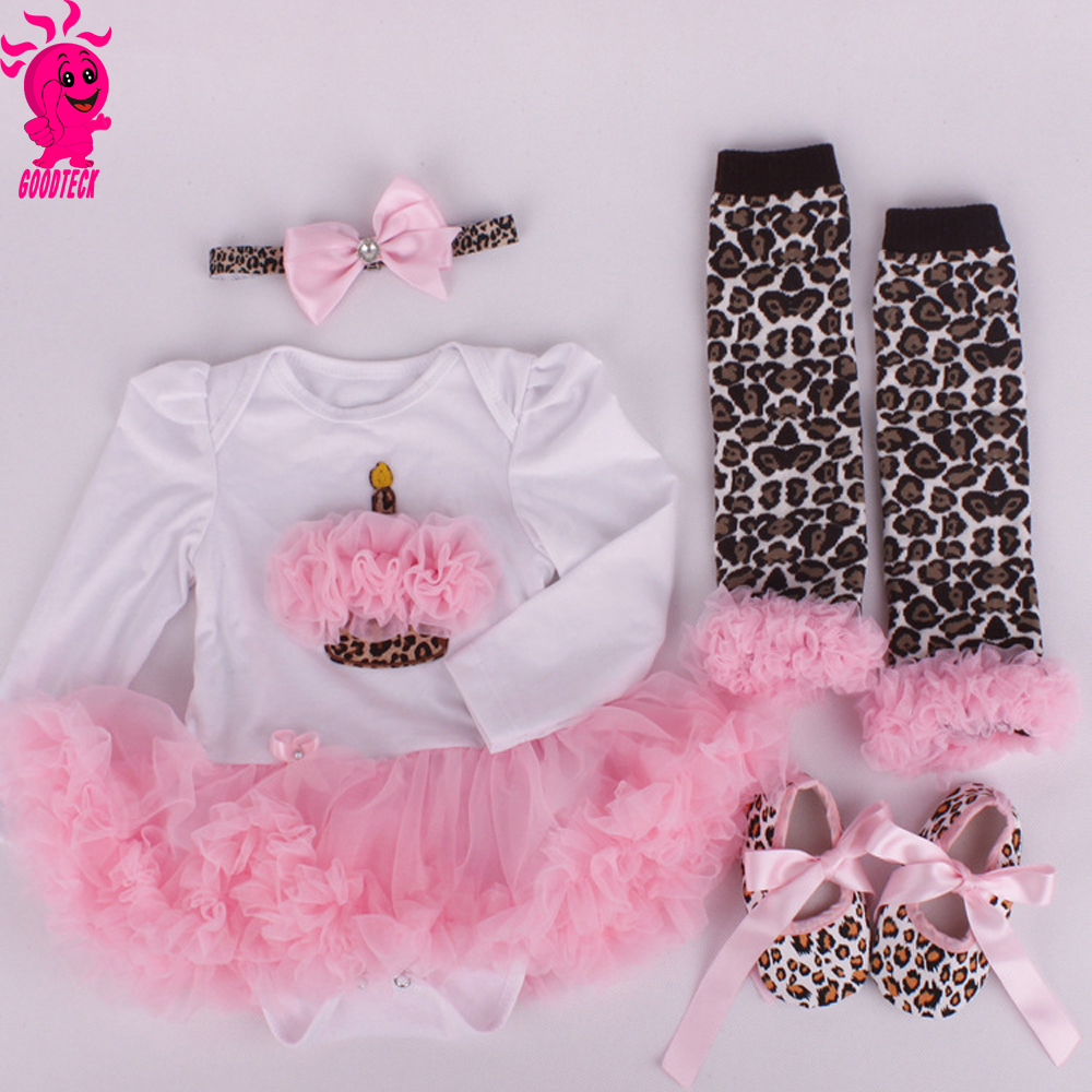 Newborn Baby Girl Clothes Brand Baby 4Pcs Clothing sets Tutu Romper