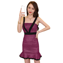 Custom Make Sexy Spaghetti Strap Mini Party Dress Short Mermaid Sheath Ruffle Japanese Free Prom Dress
