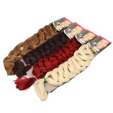 Synthetic Hair Extension 82 inch 165g Synthetic Hair Extension Ultra Brazili Braid Xpression Blonde African Hair Piece WX150D