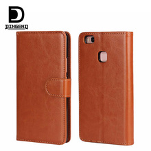 Leather Stand Flip Wallet Cover Mobile Phone Case For Huawei P9 lite