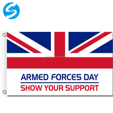 Factoty Directly Sale Digital Printing 100D Polyester Armed Forces Day 3x5 Custom Flag Case
