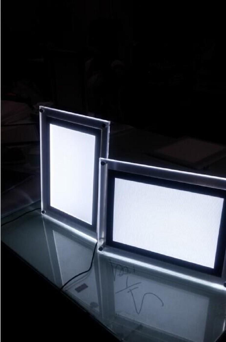 super clear acrylic light box led backlit frame panel. Black Bedroom Furniture Sets. Home Design Ideas
