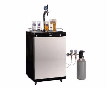 stainless steel beer kegerator with beer tower beer faucet coupler regulater cylinder piping