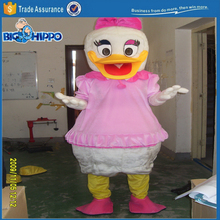 Famous duck in pink dress Daisy popular cartoon character high quality custom mascot costume