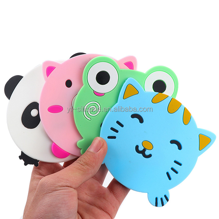 wholesale Cute animal shape PVC tea cup coaster rubber drink coasters