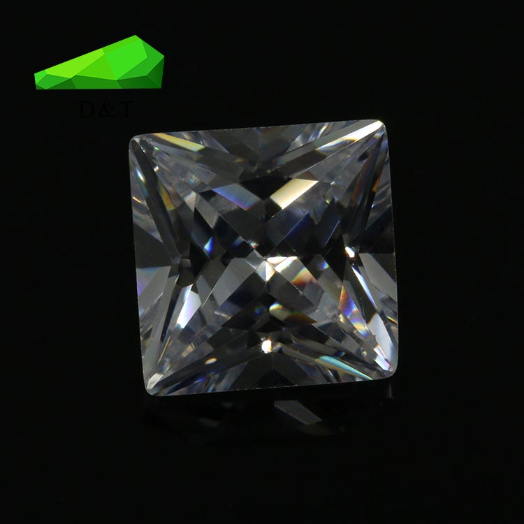 AAA brilliant 9X9mm square shape cz loose stone
