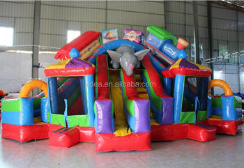Best design inflatable animal slide combo by PVC tarpaulin 0.55mm material HT007