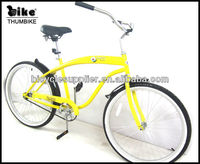 2013 new design yellow 26'' beach cruiser lady bicycle