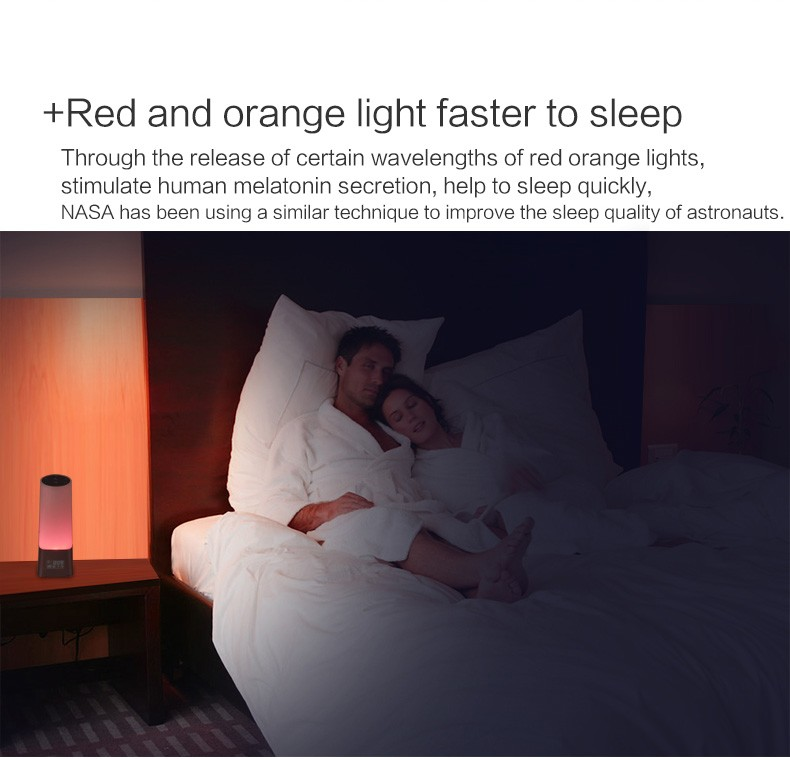 Sleep Therapy Machine Wake Up Light With Sunrise Alarm Clock, 5 Authorized Calming Music for People