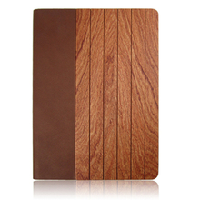 Hot Sale Wooden Leather Case For Ipad5, Natural wood engraving Back Cover,Good Design Case For Ipad 5