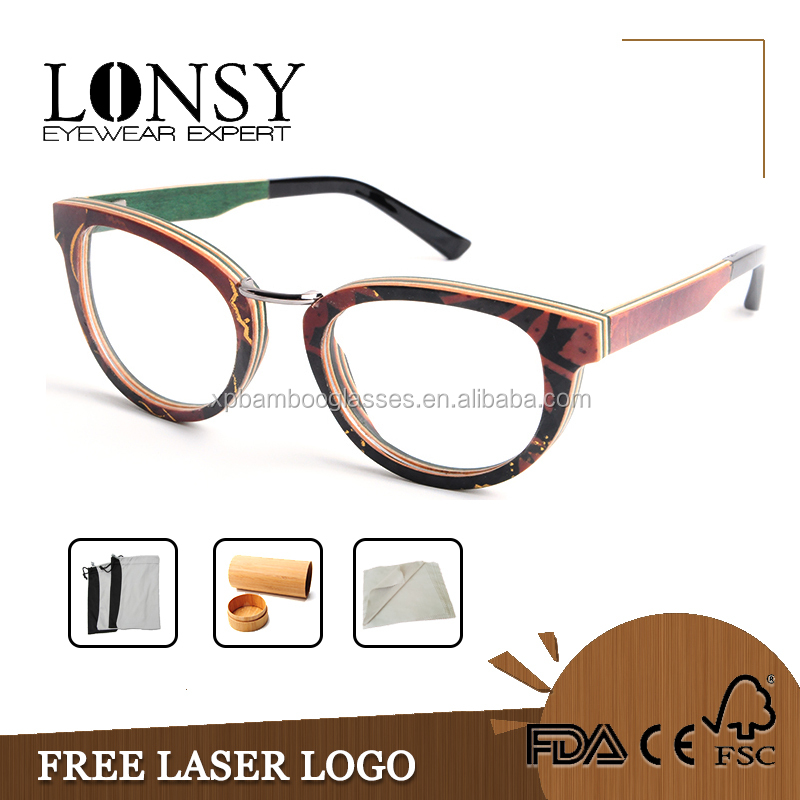 Wooden Frame Glasses Optical Frame,Optical Reading Eyeglasses Frame China Wholesale LS2930-C1