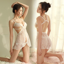 Wholesale bud silk yarn adult sexy lingerie sexy pajamas perspective exposed milk