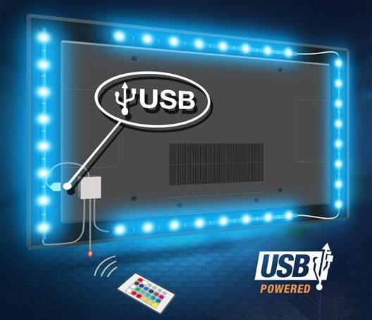 led light strip 1m adhesive 3m tape sticker tv backlight. Black Bedroom Furniture Sets. Home Design Ideas
