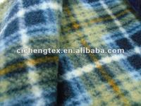 100% polyester cheap check print fleece fabric wholesale