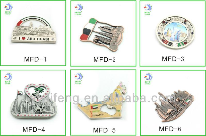 Custom Foil Magnet Tourist Souvenir Bottle Opener With Fridge Magnet