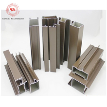 hot sell brown anodized aluminum window and door frame profile