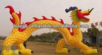 Inflatable Air Arch Gloden Dragon Cartoon Chinese Dragon Inflatable Arch Yellow Red Giant