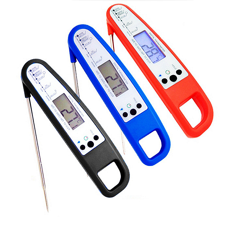 Folding Digital Food Thermometer 300c with Backlight Kitchen Cooking Grill BBQ Meat Temperature Measure Test LCD Display