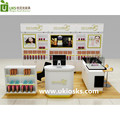 Shopping mall cosmetic kiosk,cosmetic shop furniture, cosmetic display showcase