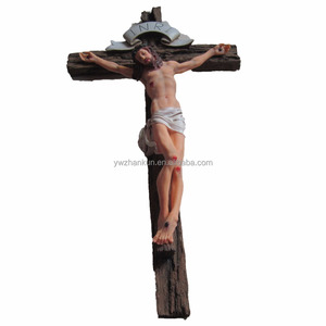 Hot Sale Resin Christian Gifts Religious Cross Crafts Jesus Standing Cross Crucifix Jesus Statue