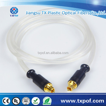 Transparent PVC Jacket Toslink Plug To Toslink Plug Digital Fiber Optical Audio Cable