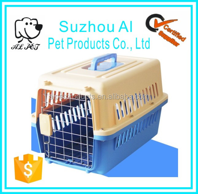 Dog Cat Carriers Aviation Airline Flight Travel Box Plastic Pet Cage