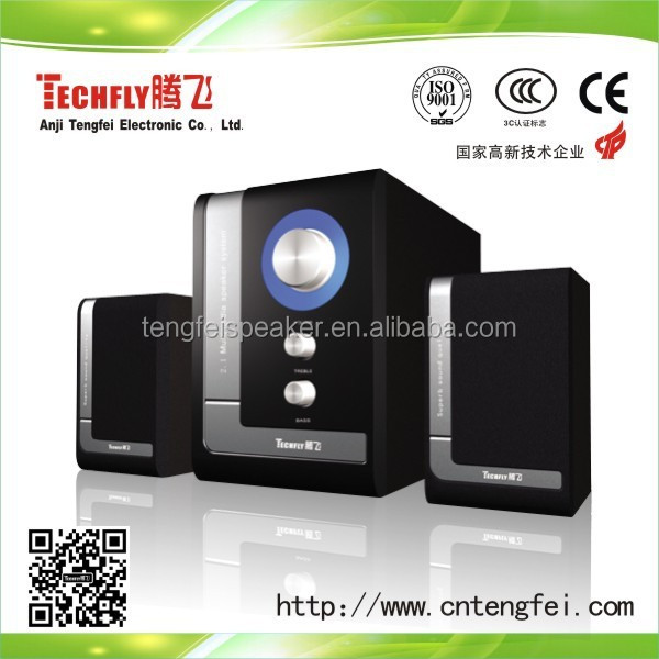 Nice Design 2014 High quality Computer speakers 2.1 SR-529,2.1 multimedia speaker