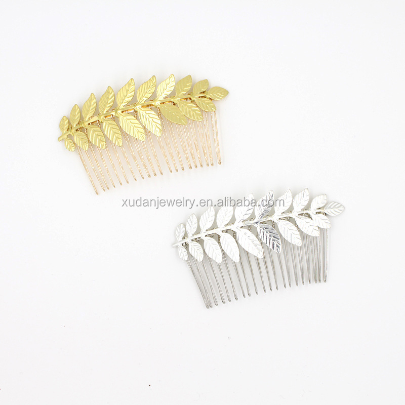 Fashion Gold Leaf Hair Comb Wholesale Decorative Hair Combs