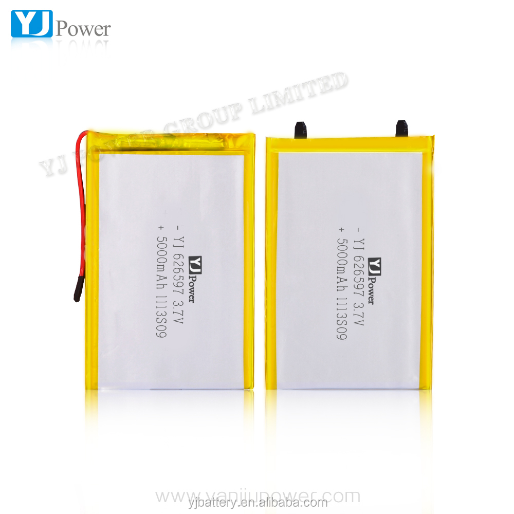 3.7V 5000mAh YJ626597 Polymer Battery Cell Lipo Battery Pack Lithium Rechargeable Batteries For Power Bank