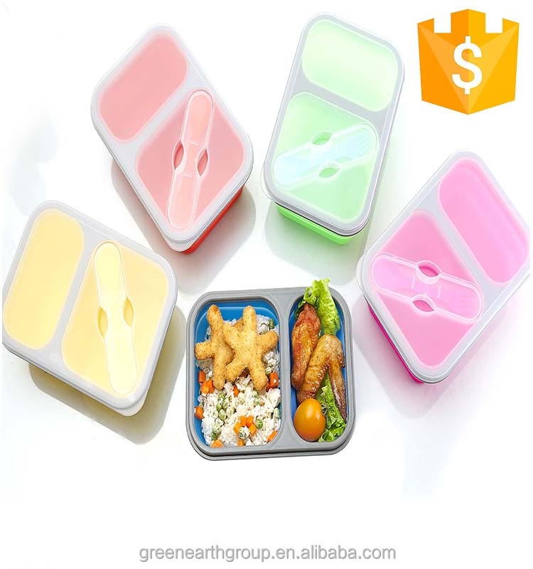 Best selling collapsible silicone lunch box