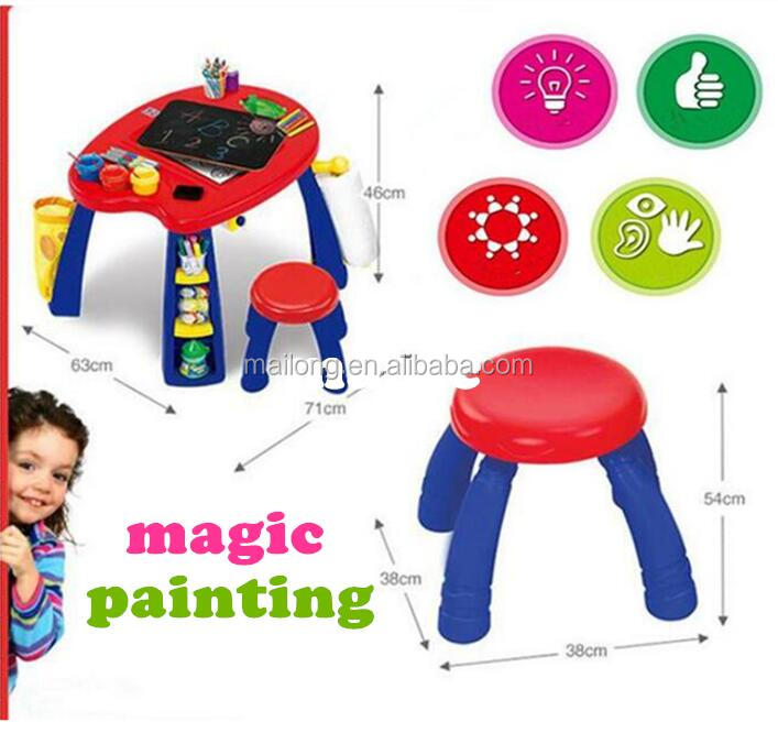 Design Children learn drawing table art studio creative educational/tables and chairs