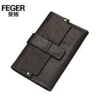 FEGER high quality black lady wallet leather hasp wallet for men