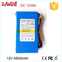 Portable 4800mAh 12V Li-ion Super Rechargeable Battery Pack for LED boards