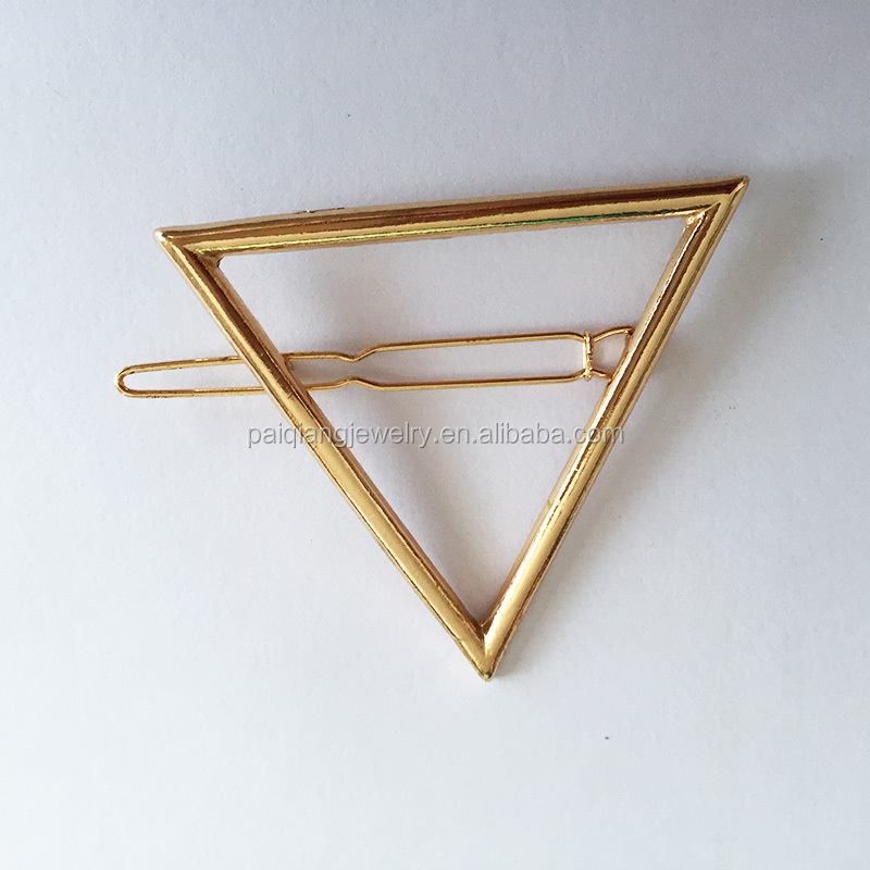 Europe and US big brand simply Triangle geometry design temperament minimalism hair clip accessory