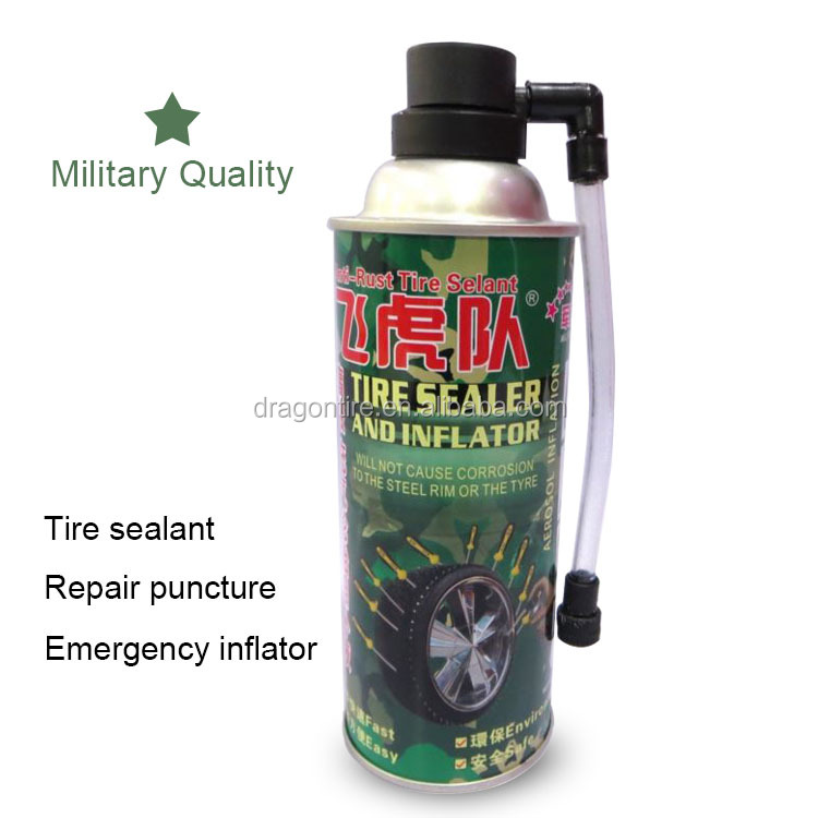 Emergency tire repair sealant and inflator