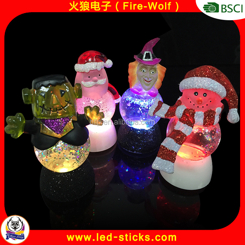 3D Acrylic Santa Claus Motif LED Christmas Light For Family Party Indoor decoration Table Night Light with Santa Claus Shape