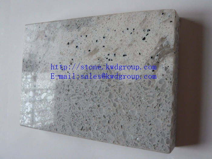 home decoration white veins grey quartz stone