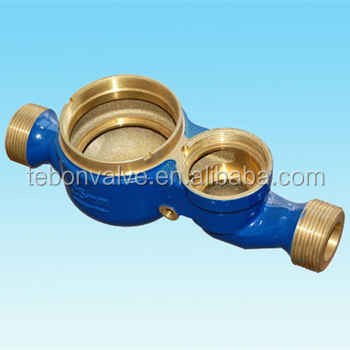 Brass body of multi-jet dry-dial water meter DN25/ 50M hand type 4-20mA ultrasonic depth water meter