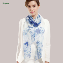 Wholesale Long Elegant White Silk Scarf For Painting