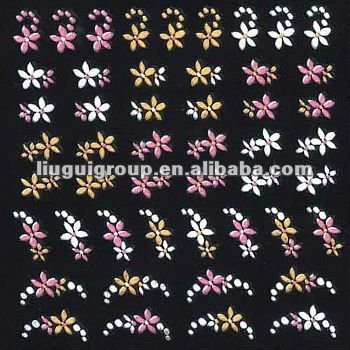 wholesale 3D toe nail art sticker