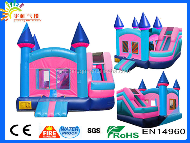 Big discount new design inflatable slide & bouncer in China giant slide bounce house