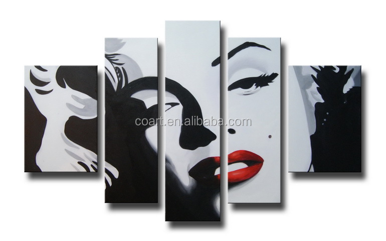 Wholesale POP Creative Marilyn Monroe Oil Painting on Canvas