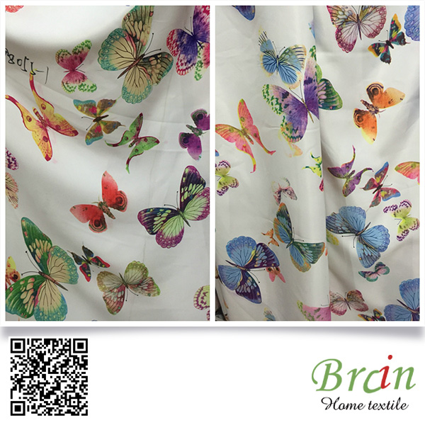 280CM width Fabric Flower butterfly Pattern Linen Fabric for cushion, bolster, tablecloth, bags, decorative