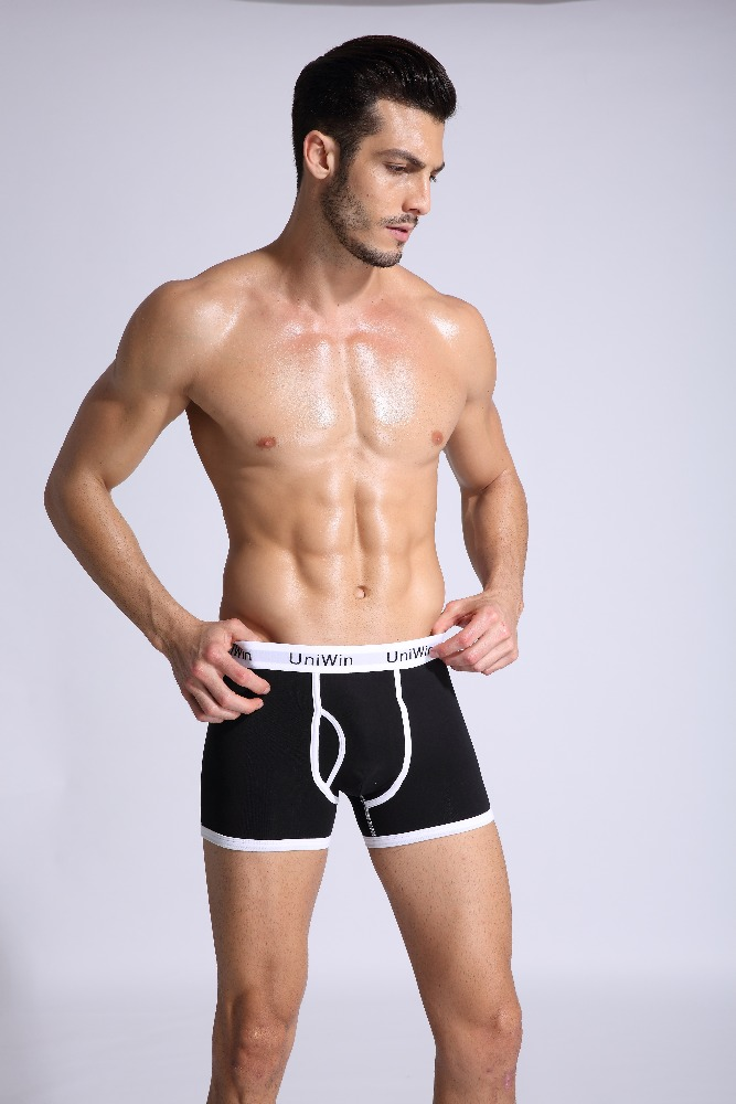 Sexy underwear for men plain boxer shorts high waisted sexy underwear for boys