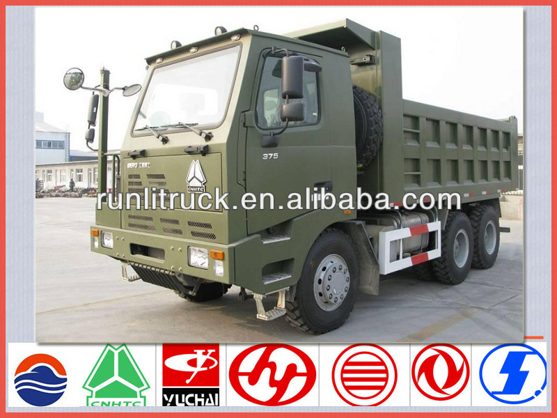 China sinotruck Howo 10 wheel 50 ton mining dump truck for sale,sand tipper truck sale