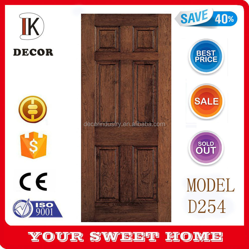 teak wood timber 6 panel interior door