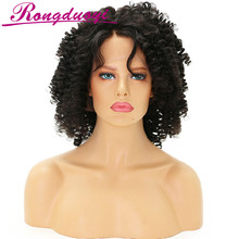10 inches short design swiss lace for wig making african braided virgin hair wig