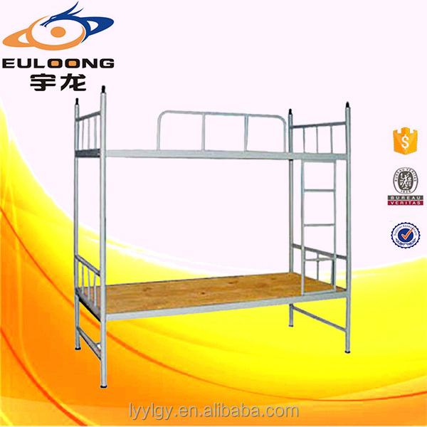 General use cheap metal bunk bed steel double deck bed suppliers in China
