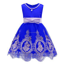 Wholesale girl party dress children frocks designs Girl embroidery lace dress